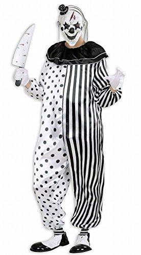 Widmann 01613 - Erwachsenenkostüm Killer Pierrot, Overall, Größe - In Spanisch Halloween Karikaturen