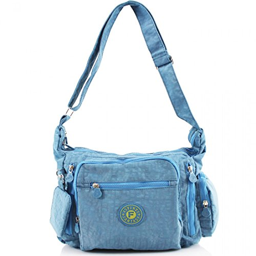 YourDezire , Borsa Messenger  donna Light Blue