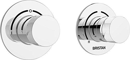 Bristan SHCDIV C Orb - Válvula de ducha termostática empotrable de doble...