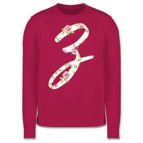 Anfangsbuchstaben - Z Rosen - Herren Premium Pullover Fuchsia