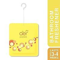 Godrej aer Pocket Bathroom Fragrance - 10 g (Bright Tangy Delight) PACK OF 6