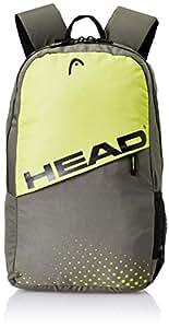 HEAD 24.28125 Ltrs Grey and Lemon School Backpack (HD/SPIN0711BP)