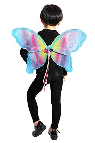 (El03 98-104 Flügel Kostüm Kind Kinder Kostüme für Karneval Fasching)