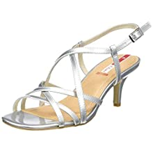 s.Oliver Women's 5-5-28332-24 Ankle Strap Sandals, Silver (Silver 941), 7 UK