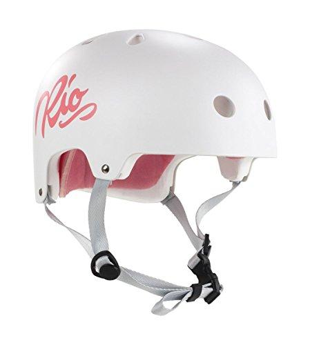 Rio Roller Script Helm weiß white, L/XL (57-59 cm)