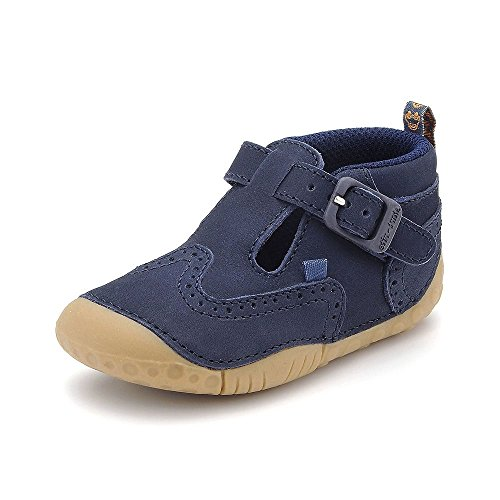 Start-Rite Harry Chelsea-Stivaletto da ragazzo, Blu (Pelle navy), 19