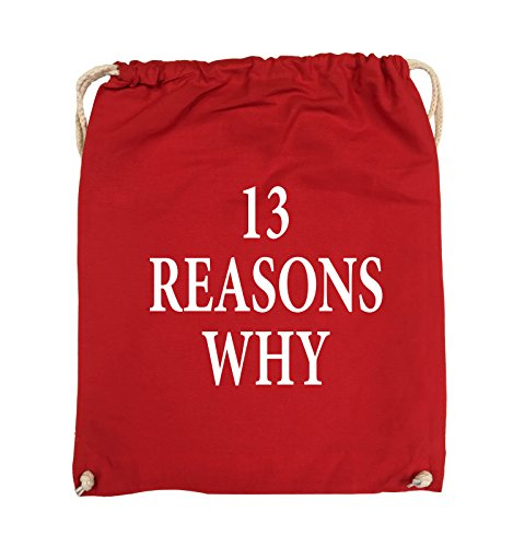 Turnbeutel 37x46cm Comedy Pink REASONS Schwarz Farbe WHY 13 Rot Bags Weiss MÄDCHEN TOTE USqFpS