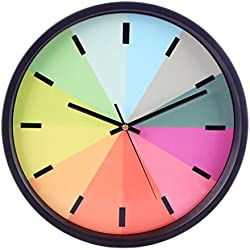 LOSGO Reloj de Pared, Reloj Pared Silencioso Modern Ideal para Sala de Estar, Estudio, Dormitorio, Oficina, Diámetro 30 cm