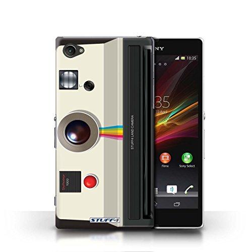 Kobalt® Imprimé Etui / Coque pour Sony Xperia Z1 Compact / Compact conception / Série Appareil Photo Instantanée Retro