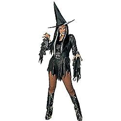Widman - Disfraz de halloween bruja malvada para mujer, talla XL (3147W)