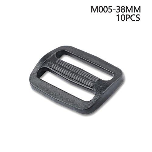 Plusieurs Sangles en toile Slide Triglides Slide Plastique glisser Boucle pour sac à dos 38 mm