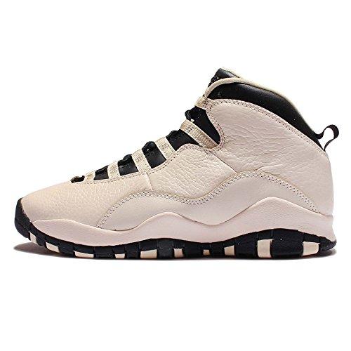 Nike Mädchen Air Jordan 10 Retro Prem GG Basketballschuhe, Blanco (Pearl White Black), 38.5 EU (Air Jordan 10)