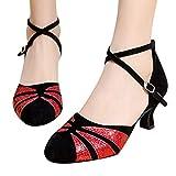 Zapatos de Baile de Baile de Salsa Latino Tango para Mujer Zapatos de...