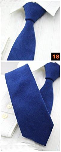 LLZGPZLD Krawatte/Baumwolle Solid Neck Tie Hochzeit Anzug Krawatten 6 cm Skinny Business Freizeit Krawatten Für Männer, 18