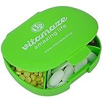 Tablettenbox Tablettendose mit 5 Fächern Pillenbox Pillendose für 5 Tage Kapselbox Kapseldose BPA-frei 11x10x3 cm preisvergleich bei billige-tabletten.eu