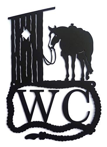 hild, Westernpferd, Quarter Horse, Paint Horse, Appaloosa, 18cmx26cm, wetterfest, rostfrei, pulverbeschichtet, langlebige Deko für Innen und Außen geeignet (Schwarz) ()
