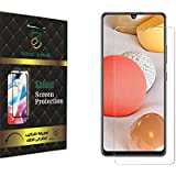 For samsung A22 Tempered Glass screen Protector with Nano technology fixable - Clear By What's MoB