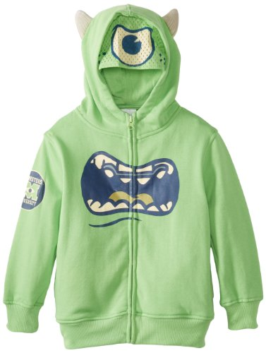 Disney Monsters University Boys Mike Wazowski grün Kostüm Hoodie Sweatshirt (Boys ()