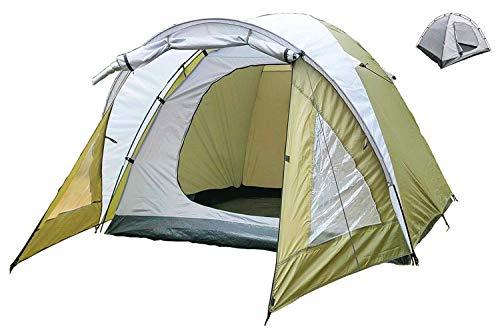 MECOREX Kuppelzelt 2 3 4 Personen, 3 Jahreszeiten Outdoor Campingzelt Iglu-Zelt,doppelschichtig Wasserdichtes, 210x210x135cm grün