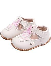 9083f41174 DEBAIJIA Bebé Niña Zapato de Princesa con Cinta Mágica para 1-3 años Niños  Primeros Pasos Zapatos de Cuero con Lazo…