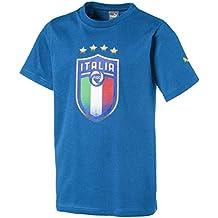 Puma FIGC Italia Badge tee Jr Camiseta 9b51348c43b40