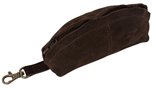 """Gusti Cuir studio """"Freddie"""" étui de beauté trousse de beauté étui en cuir sac en cuir trousse de toilette sac culture sacs pour clés chic pratique accessoire en cuir marron 2A24-26-9"""