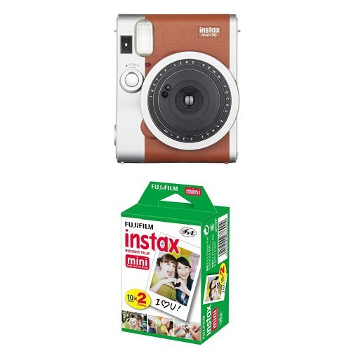Fujifilm - Instax Mini 90 Neo Classic - Appareil Photo Instantané - Marron Clair + 2x10 films