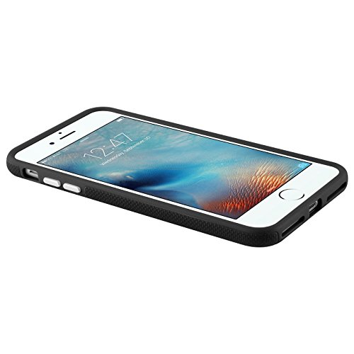 iPhone 8, iPhone 7 Hülle | JAMMYLIZARD Outdoor Schutzhülle [ LIGHTWAVE Series ] Backcover Handyhülle Case aus mattem Silikon und Polykarbonat, Neon Pink SCHWARZ