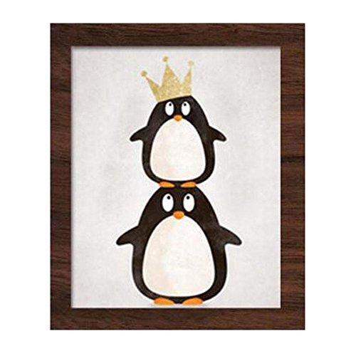 H Premium Kunstdruck Wand-Bild – Bär, Flusspferd, Pinguin CP016 – Leinwand-Druck –...