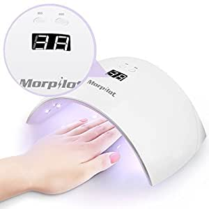 Lampe UV Ongle, Lampe UV Manucure Pédicure, Morpilot Lampe LED Vernis - Catalyser tous les types de gel, Lumière blanche naturelle