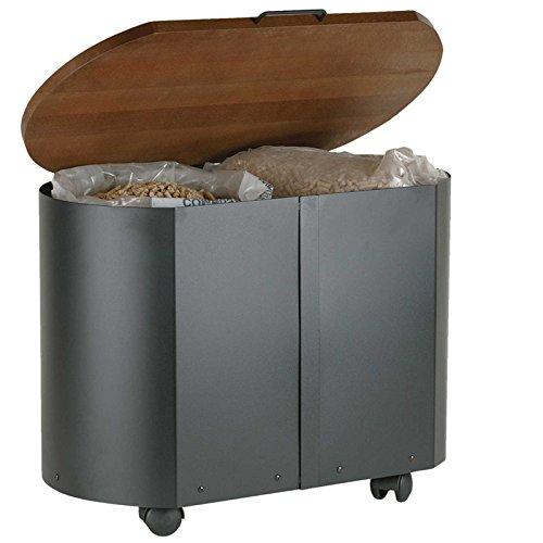 Holz Pellet Kamine (Lienbacher Pellets-Box BENDIGO Pellets Holz Box Aufbewahrung Kaminzubehör Kamin Ofen)