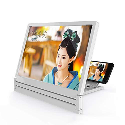 L&Z Handy-Lupe Portable,MFY7CZ Handy Bildschirm 3D Lupe zusammenklappbar HD Verstärker Vergrößern Ständer Handy Projektor