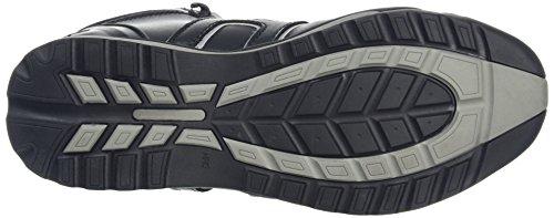 Stivali da lavoro di pelle con punta in acciaio Nero/Grigio