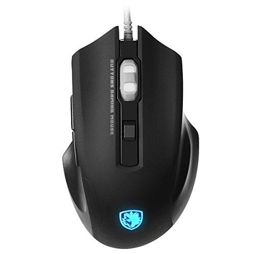 SADES Q8 USB Con Cavo a 7 Tasti Mouse da gioco con Lampada a luce per PC Laptop Computer Desktop