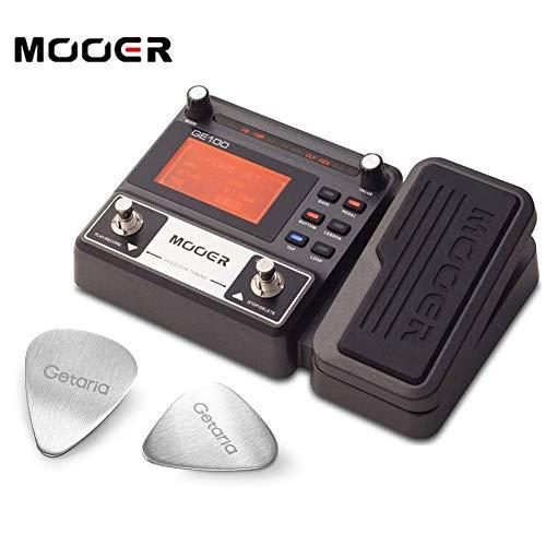 Mooer Guitar Effect Pedal ME GE 100 Multi Effect Processor Device with 2 Getaria Guitar Picks