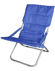 Papillon 8043505 - Silla de playa de metal, color azul acolchada