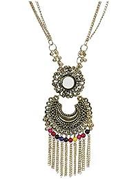 782965a36 Urbanela Oxidized German Silver Gypsy Look Tribal Antique Boho Mirror  Afgani Necklace   Fashion Jewellery