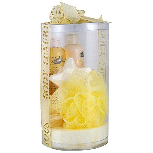 Gloss! Boîte de Bain Body Luxurious Or Vanille et Tilleul 4 Pièces