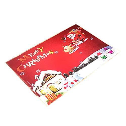 LoveLeiter Weihnachten HD Gedruckt Rutschfeste Badematte Absorbent Waterproof Home Decor Badezimmerzubehör Schlafzimmer Dekoration Weiche SaugfäHige Antibakteriell(A)