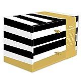 Robert Frederick 2 Drawer Storage Box - Bold Stripe & Geo Spot, Assorted