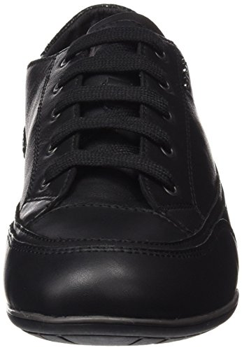 Geox Damen D New Moena A Sneakers Schwarz (Blackc9999)