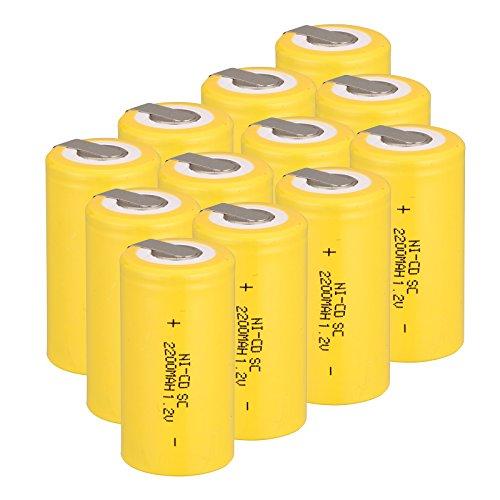 Anmas box 6/10/12/15 pezzi Subc Ni-Cd 1,2 V 2200 mAh batteria ricaricabile con linguetta
