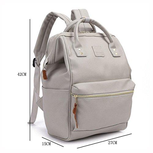 Umhängetasche Reisetasche Tasche Mode Damen Rucksack Daypack,Black Gray