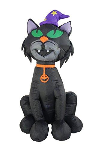 JF deco 1.2 Aufblasbar Halloween Dekoration Beleuchtete schreckliche Schwarze Katze Home Yard Aufblasbare Dekorationen deko für Party Innenaufnahme im Freien