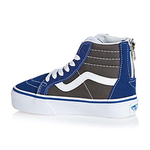 Vans SK8-Hi Mte, Baskets Basses Mixte Enfant Blau (true Blue/asphalt)