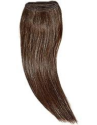 chear européenne soyeuse droite trame Extension de cheveux humains avec de mélange tissage marron foncé numéro...