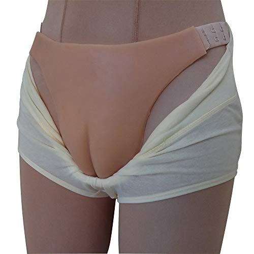 Versteckte Gaff Höschen Silikon Panty Für Männer Crossdressing Transgender, Weiß Silikon,Skintonebelt,OneSize