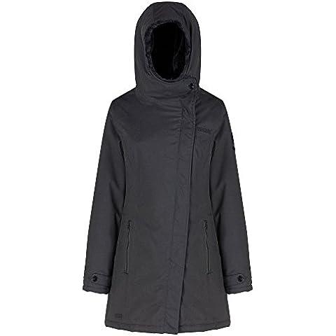 Regatta Womens/Ladies Serissa calda imbottito lunghezza giacca impermeabile, donna, Ash, UK 12 - Bust 36