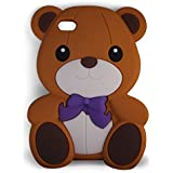 SKS Distribution® brun Silicone mignon Ours Bow Bear Etui Coque Housse Pour iPod Touch 5 5th generation and iPod Touch 6 6th generation