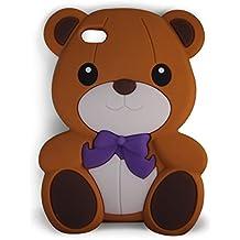 SKS Distribution® marrón silicona corbata de lazo oso BOW BEAR FUNDA / CARCASA / COVER para iPod Touch 5 5th generation and iPod Touch 6 6th generation
